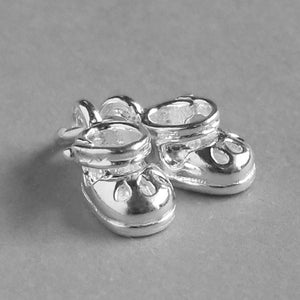 Baby shoes charm 925 sterling silver or gold