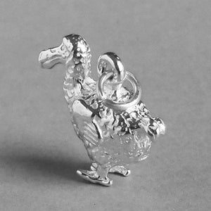 Dodo Bird Charm Pendant Sterling Silver or Gold