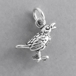 Song Bird Sterling Silver Charm Pendant
