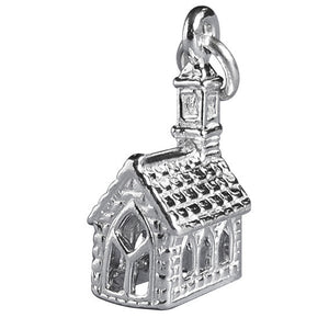 Church Charm in Sterling Silver or Gold | Charmarama
