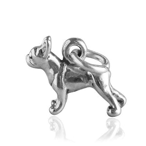 Boston Terrier Dog Charm Sterling Silver