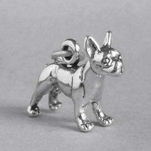 Sterling Silver Boston Terrier Dog Charm | Charmarama