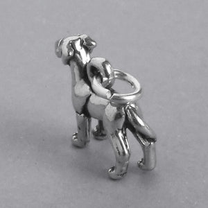 Great Dane Dog Charm 925 Sterling Silver