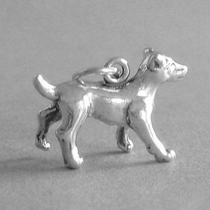 Sterling Silver Jack Russell Dog Charm Pendant