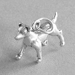 Sterling Silver Jack Russell Dog Charm