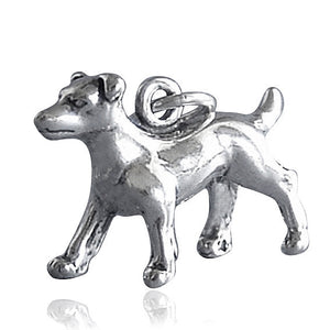 Sterling Silver Jack Russell Dog Charm | Charmarama
