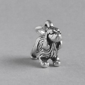 Sterling silver cocker spaniel dog charm