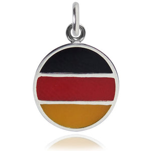 Germany Flag Charm Sterling Silver Country Pendant | Charmarama