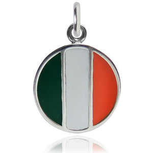 Ireland  Flag Charm Sterling Silver Country Pendant | Charmarama