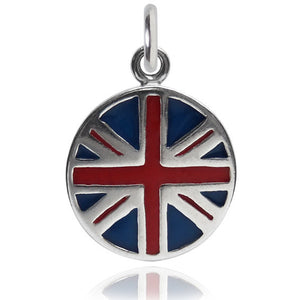UK  Flag Charm Sterling Silver Country Pendant | Charmarama
