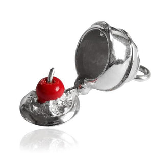 Chocolate Cherry Licqueur Sterling Silver Charm
