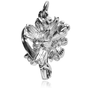 Bouquet of Flowers Charm in Sterling Silver or Gold