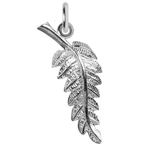 Sterling Silver or Gold Fern Leaf Charm | Silver Star Charms
