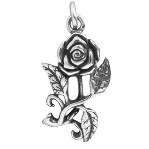 Sterling Silver Rose Flower Charm