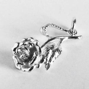 Rose Flower Charm Pendant