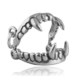 Sterling Silver Opening Dracula Vampire Fangs Charm