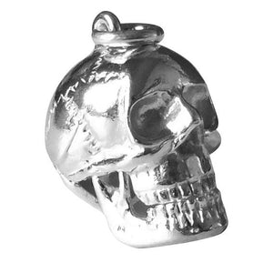 Skull Charm with Moving Jaw in Sterling Silver or Gold