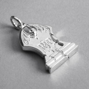 Tombstone Charm Pendant in Sterling Silver or Gold
