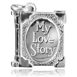 My Love Story Book Charm
