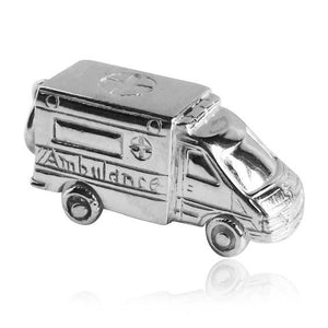 Ambulance Charm Sterling Silver or Gold Medical Pendant | Silver Star Charms