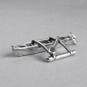 Sterling Silver Canoe and Outrigger Charm