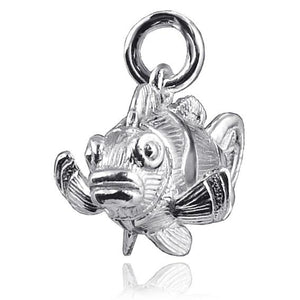 Moving Clownfish Pendant Sterling Silver or Gold