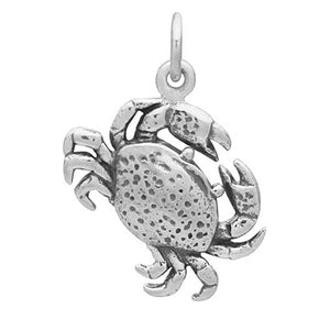 Crab Charm Sterling Silver Cancer Sea Life Pendant | Charmarama