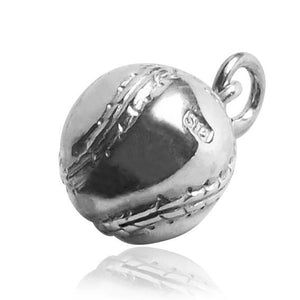 Baseball Charm in Sterling Silver or Gold