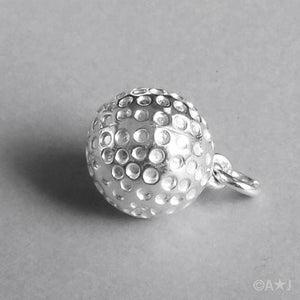 Golf Ball Pendant in Sterling Silver or Gold