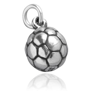 Football Soccer Ball Charm 925 Sterling Silver Pendant
