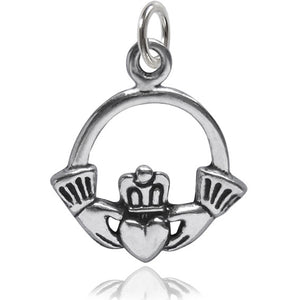 Claddagh Irish crowned heart in hands symbol | Charmarama