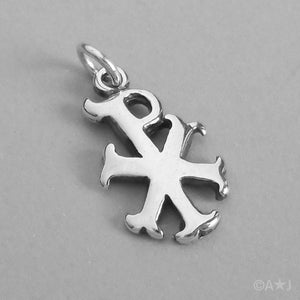 Sterling Silver Greek Chi-Rho Symbol Pendant