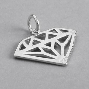 Diamond Symbol Pendant in Sterling Silver