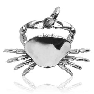 Crab Charm Cancer Zodiac in Sterling Silver or Gold | Silver Star Charms