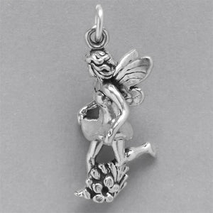 Sterling Silver Flower Fairy Charm