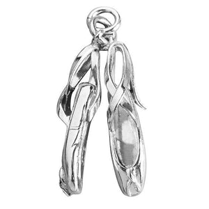 Ballet Shoes Charm in Sterling Silver or Gold