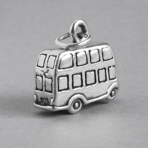 Sterling Silver London Double Decker Bus Charm