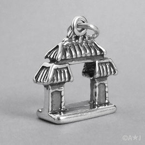 Sterling Silver Chinese Gateway Charm