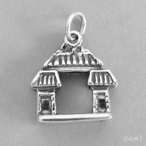 Sterling Silver China Asia Entrance Charm