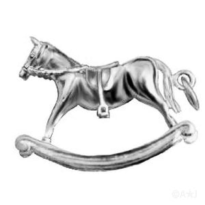 Rocking Horse Pendant in Sterling Silver or Gold