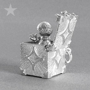 Jack in the Box Charm in Sterling Silver or Gold