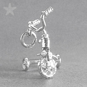 Tricycle Pendant in Sterling Silver or Gold