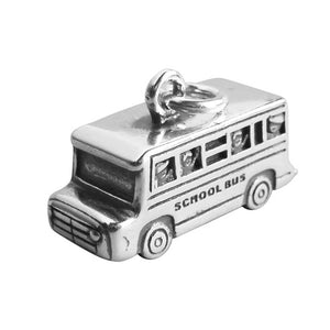 School Bus Charm in 925 Sterling Silver Pendant | Charmarama
