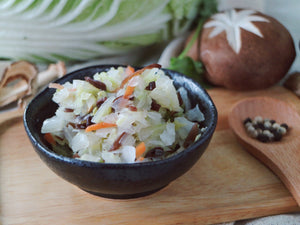 Napa Cabbage with Mushroom Duo