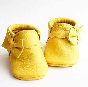 Side Bow Moccasins Yellow