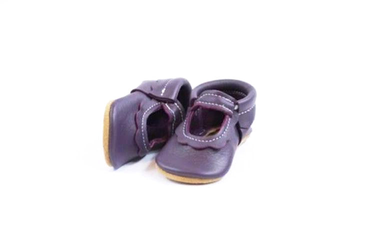 Bowless Mary Janes Plum