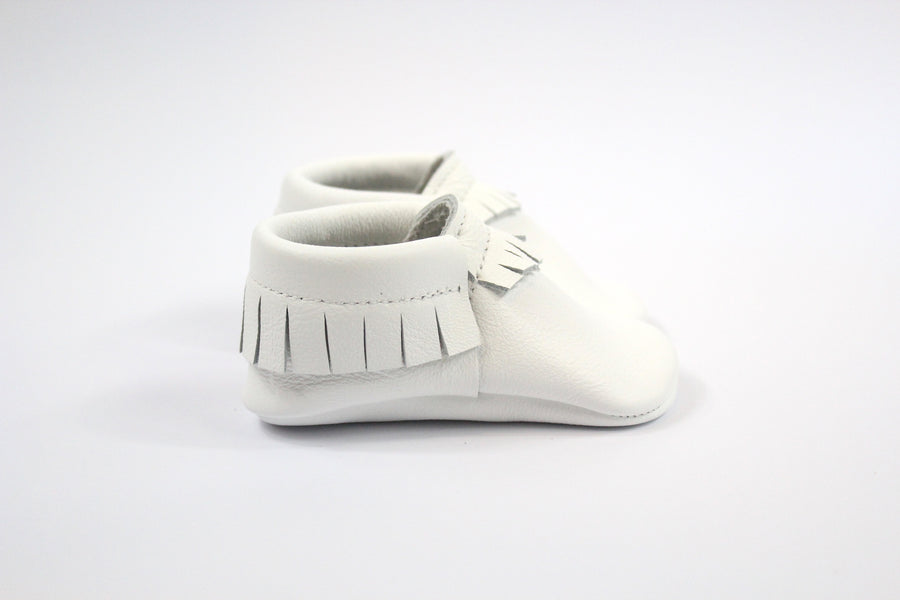 Classic White Moccasins