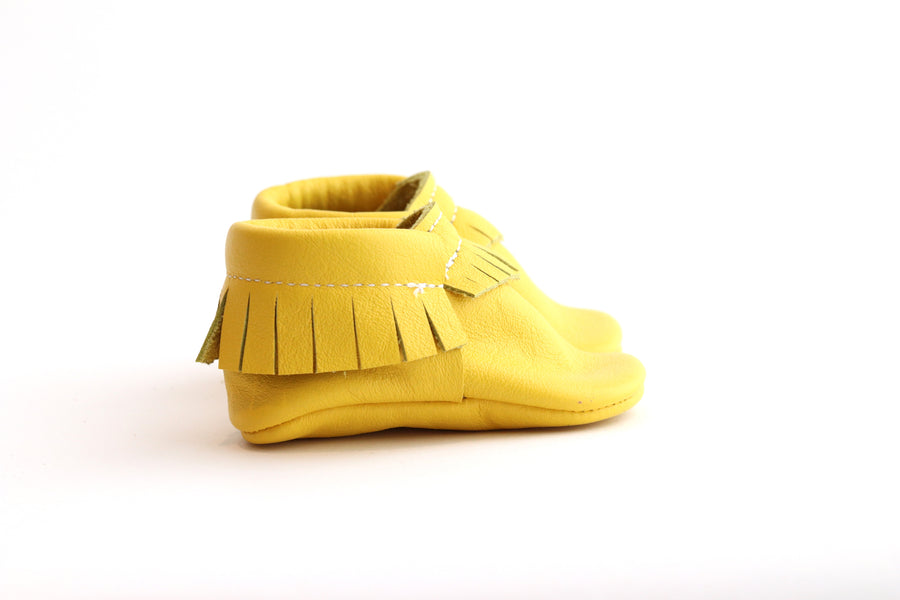 Classic Yellow Moccasins