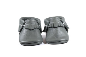 Classic Grey Moccasins