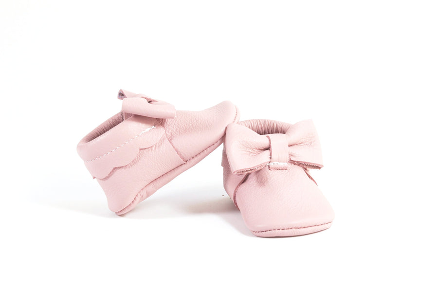 Bow Moccasins Light Pink
